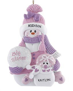 Amazon.com: Personalized Big Sister - Baby Sister Christmas Ornament ...