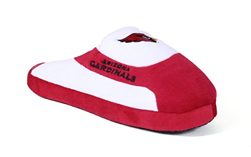 Happy Feet Comfy Feet - Officially Licensed Mens and Womens NFL Low Pro Slippers Arizona Cardinals Low Pro