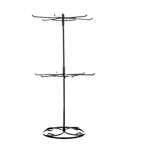 2 Tier Rotating Necklace Holder Jewelry Tree Bracelet Stand Display Organizer for Necklaces, Bracelets, Earrings, Rings