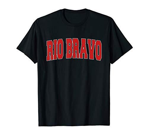 RIO BRAVO TX TEXAS Varsity Style USA Vintage Sports T-Shirt