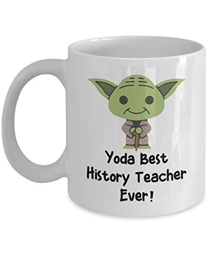 Best History Teacher Ever Mug - Funny Best History Teacher Ever Gift - Yoda Collectors - Star Wars Mug - Yoda Best History Teacher Pun Mug