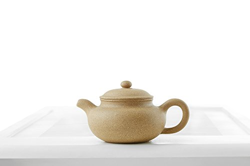 Yixing Clay Teapot with Long Spout Ceramic Kettle Tea Pot Chinese Teaware Pottery (gingerbread)