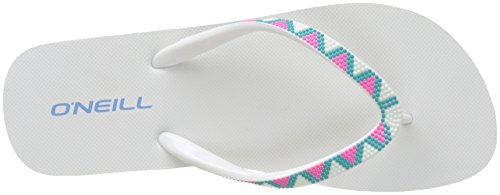 O'Neill Fw Printed Strap Flipflop - Chanclas Mujer Blanc (Pink Aop)