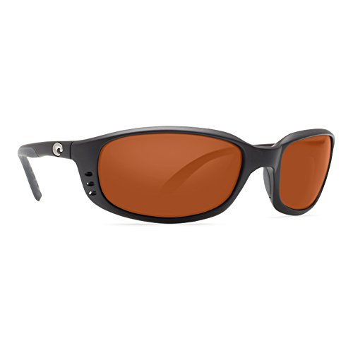 Costa Del Mar Brine Sunglasses Matte Black / Copper 580Glass Copper Lens Matte Black Frame