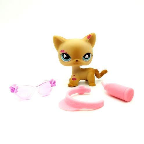 Pet Shops #816 Littlest Messiest Cream Siamese Splash Cat Kitty LPS 3/Accessories