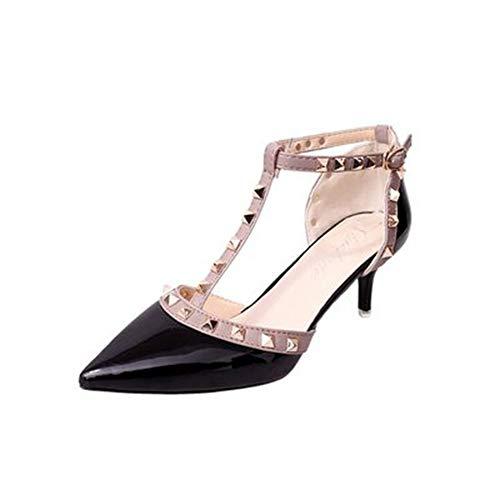 Pumps Frauen Höhe LIANGHUA Schuhe Frau Heels Schnalle Nieten Damen Spitz cm Ferse High Schuhe Nude Frauen Sexy Heels 6 Schuhe 6wp1qw