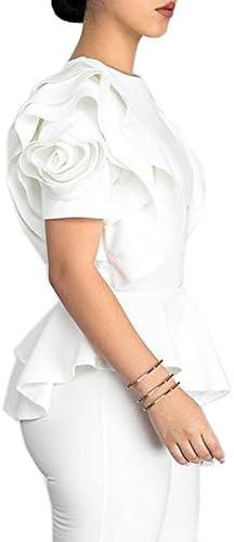 Blansdi Ruffle Sleeve Peplum Bodycon product image
