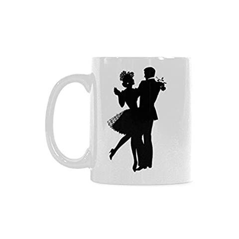 Dance Silhouettes Personalized Funny Healthy Ceramic Classical White Mug, Coffee,Water,Tea Cup for - Therapy Bath 1 Lb Powder