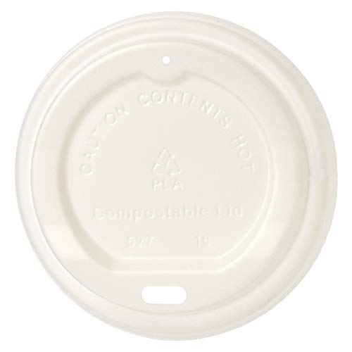 AmazonBasics Compostable PLA Hot Cup Lid for 8 oz cup, 500-Count