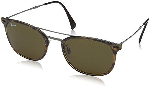 Ray-Ban Plastic Man Square Sunglasses, Havana, 55 mm