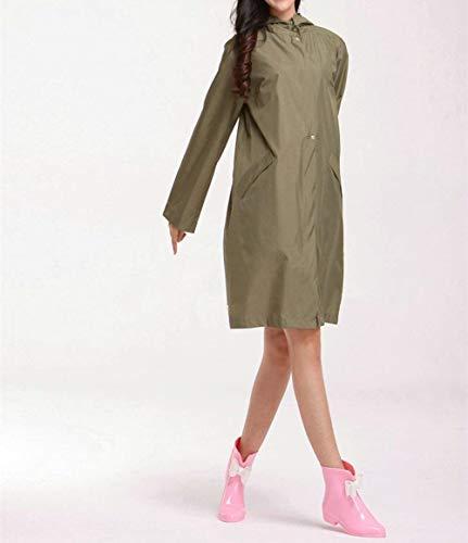 Saoye E Fashion Donna Impermeabili Leggeri Armeegrün Giovane Per Giacche Antipioggia Impermeabile qYY7grxH