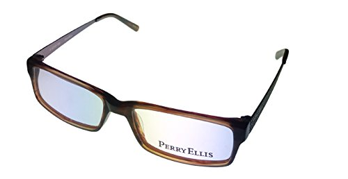 perry ellis ophthalmic modified rectangle plastic frame