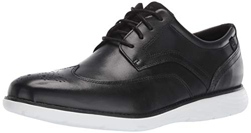 Rockport Men's Garett Wingtip Oxford Black/White 12 M ()