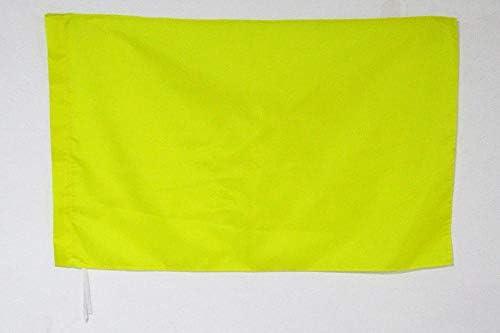 AZ FLAG Drapeau Course Automobile Jaune et Rayures Rouges 90x60cm Drapeau de commissaire 60 x 90 cm Fourreau pour hampe