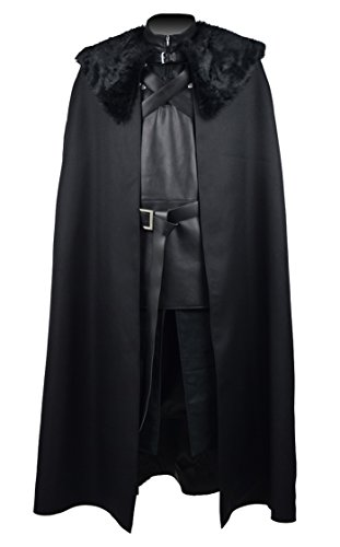 [Fancycosplay Fur Collar Cosplay Costume Mens Halloween Outfit (Man-XL)] (Man Of The Nights Watch Costume)