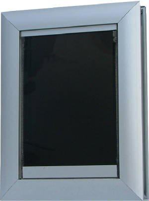 "Door Mount Pet Door - Dual Flap - Small (Aluminum) (13.5""H x 10.125""W x 5.5""D)"