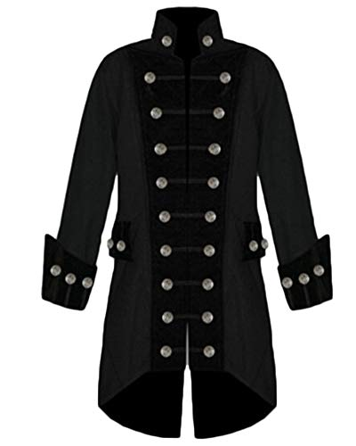Men's Steampunk Double-Breasted Victorian Frock Coat Vintage Tailcoat