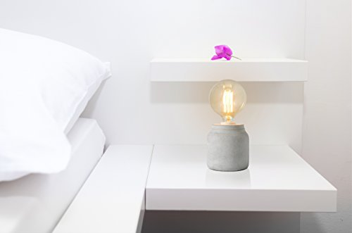 "Crystal Art 4.33"" Concrete Finish Cement Table Lamp"