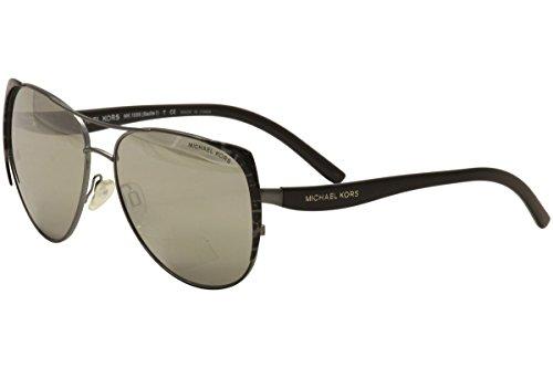 MICHAEL KORS Sunglasses MK 1005 10586G Gunmetal Black Leopard/Black - Sunglasses Kors Leopard Michael