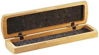 Stifte-Etui aus Holz | Maße 16,8 x 4,5 cm | mit Filz gefüttert | Stiftebox aus edlem Kirschholz, für 2 Stifte