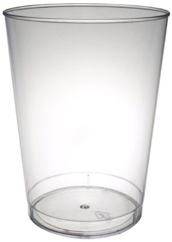 Party Essentials N102521 Plastic Party Cups/Tumblers, 10-Ounce Capacity, Clear (Case of 500) by Party Essentials