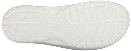 Crocs Unisex Klassieke Grafische Glijbaan Wit / Zwart