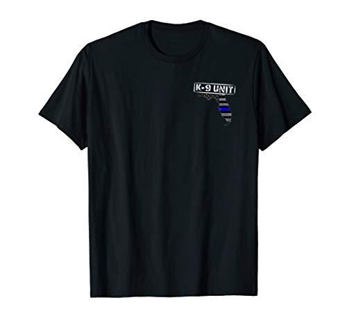 (Florida K-9 Police Officer T-Shirt LEO Law)