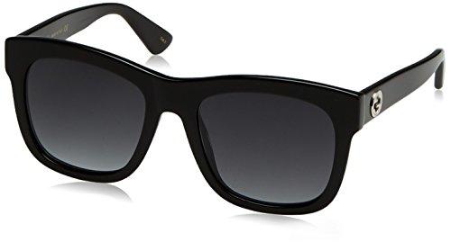 Gucci GG0032S Sunglasses 001 Black / Grey - Wayfarer Gucci