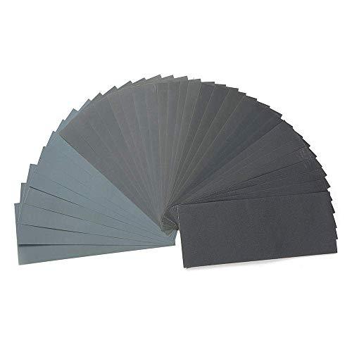 CHUNSHENN 研磨剤、研磨剤36玉防水紙のシート紙やすりセット120から3000グリットウェットとドライサンドペーパー 研磨用 研磨工具