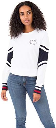 Tommy Hilfiger Women/'s Long Sleeve Pullover Logo Sweater Sweatshirt Pajama...