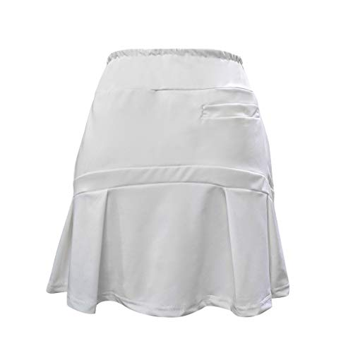 Power Pleated Tennis Skirt - IRENE Women's Summer Casual Running Skorts Fashion Pleated Tennis Golf Skirt Underneath Shorts White