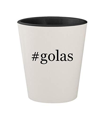 Price comparison product image #golas - Ceramic Hashtag White Outer & Black Inner 1.5oz Shot Glass