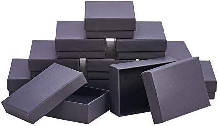 NBEADS 60 Piezas Juego de Cajas de Joyería de Cartón para Collares, Pendientes Y Anillos, Rectangular, Negro, 9 X 6,5 X 2,8 Cm: Amazon.es: Juguetes y juegos