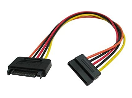 12 inch SATA 15-Pin Male to Female Power Extension Cable