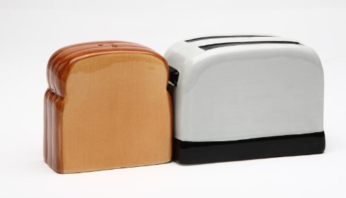 Magnetic Salt and Pepper Shaker - Toaster and Toast (And Shakers Pepper Toaster Salt)