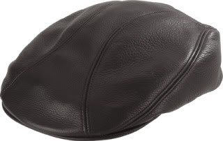 Henschel Genuine Leather Driving Cap, Black, Small/Medium