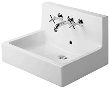 Duravit 04536000001 Vero Three Hole Wash Basin, White Finish