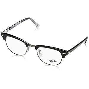 Ray-Ban Unisex RX5154 Eyeglasses Black On Texture Camuflage 51mm