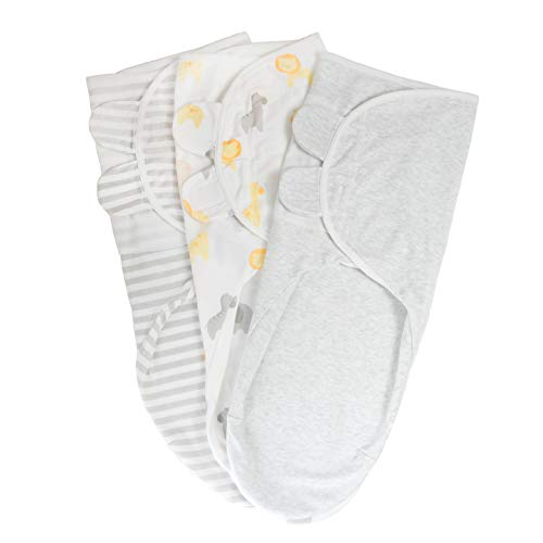 Adjustable Velcro Swaddle Baby Blanket: Dream Jersey Wrap for Your Miracle Love. Swaddleme Sleep Sack Cotton Blankets for Infant Boy or Girl: 0 to 3 Months