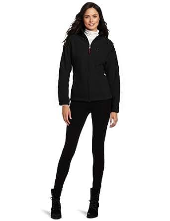 Tommy Hilfiger Women's Versatile Zip Front Fleece Jacket, Black, Small