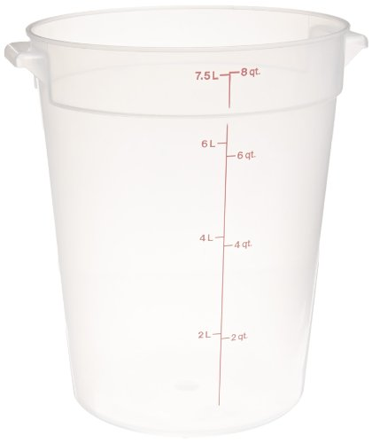Cambro RFS8148 White Poly Round 8 Qt Storage Container
