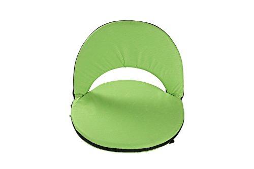 Portable Multiuse Adjustable Recliner Stadium Seat by Trademark Innovations (Light Green) by Trademark Innovations