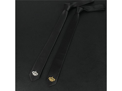 and Occasion Necktie Crown Casual Formal Embroidery Comfortable Party Men's Fashionable Wedding Kxrzu Golden for TUZBw7xvwq