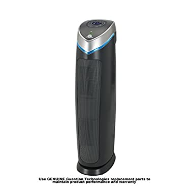 GermGuardian AC5250PT 3-in-1 Pet Pure True HEPA Air Purifier System UV Sanitizer and Odor Reduction, 28-Inch Digital Tower