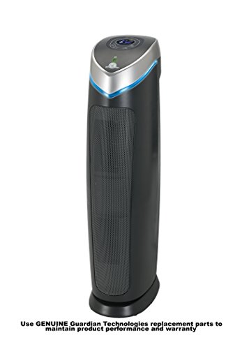 GermGuardian AC5250PT 3-in-1 Air Cleaning System with Pet Pure True HEPA Filter, UV-C Sanitizer, Allergen and Odor Reduction, 28-Inch Digital Air Purifier