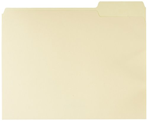 AmazonBasics File Folders with Reinforced Tab - Letter Size (100 Pack) - Manila