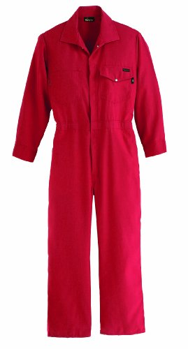 Nomex Iiia Snap - Workrite FR Flame Resistant 4.5 oz Nomex IIIA Industrial Coverall, Snap Wrist, Small, Regular Length, Red