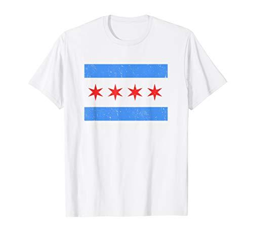 Vintage Distressed Chicago City Flag Shirt