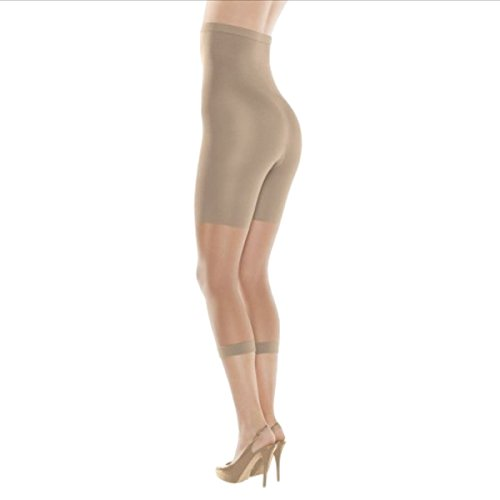 (SPANX High-Waisted Footless Body-Shaping Pantyhose (A, NUDE))