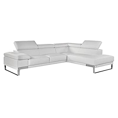 Amazon Com Baxton Studio Selma Leather Modern Sectional